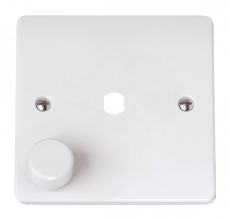 Click Mode 1 Gang Unfurnished Dimmer Plate & Knob (650W Max) | CMA145PL