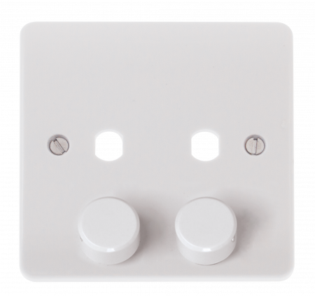 Click Mode 2 Gang Unfurnished Dimmer Plate & Knob (800W Max) | CMA146PL