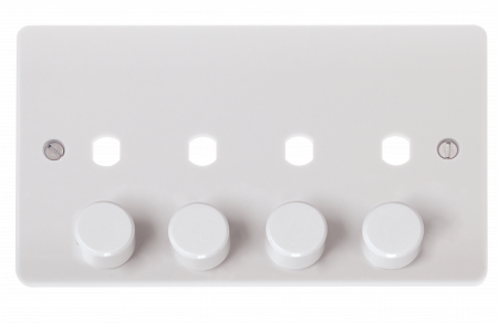 Click Mode 4 Gang Unfurnished Dimmer Plate & Knob (1600W Max) | CMA148PL