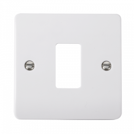 Click GRIDPRO White Plastic Mode 1 Gang Front Plate | CMA20401