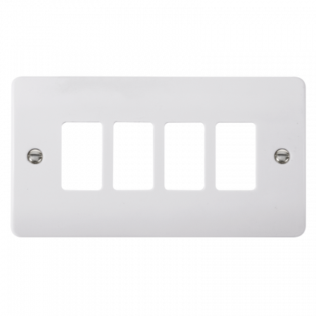 Click GRIDPRO White Plastic Mode 4 Gang Front Plate | CMA20404