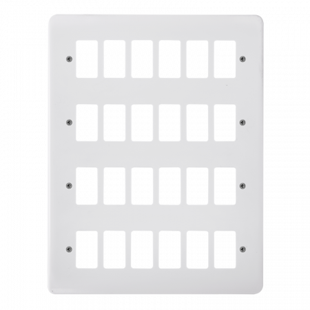 Click GRIDPRO White Plastic Mode 24 Gang Front Plate   CMA20524