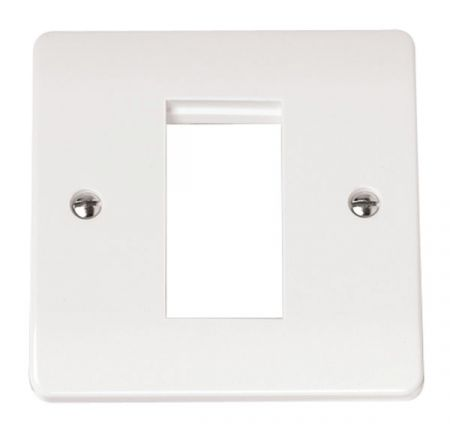 Click Mode 1 Gang Single Aperture Mode Unfurnished Plate CMA310