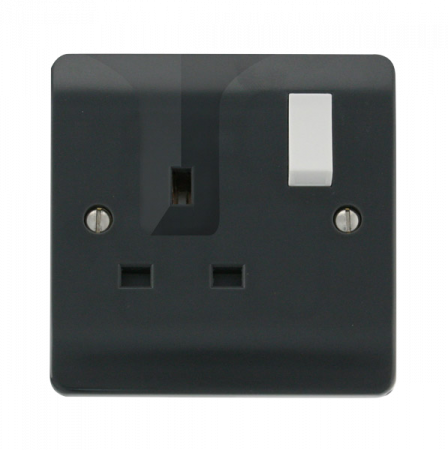 Click Mode Part M 13A 1 Gang DP Switched Locating Plug Socket | CMA735AG