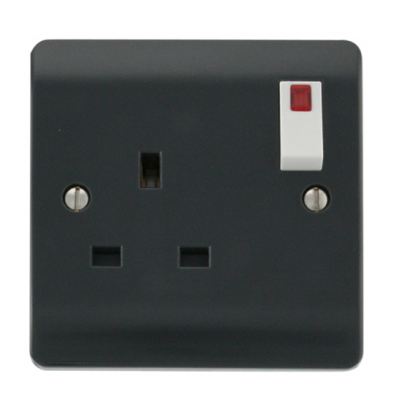 Click Mode Part M 13A 1 Gang DP Switched Socket With Neon | CMA835AG