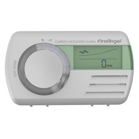 Fire Angel Digital Display 7yr Long Life LED Carbon Monoxide CO Battery Alarm CO-9D
