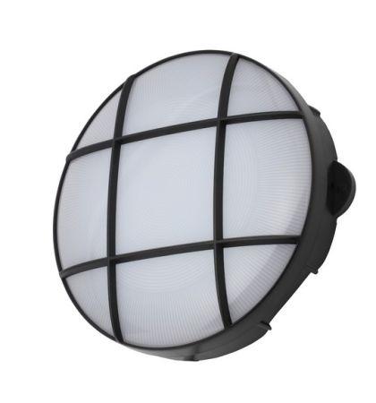 Coast Capella 15w LED Round Grill Bulkhead IP65 Black   CZ34025-BLK
