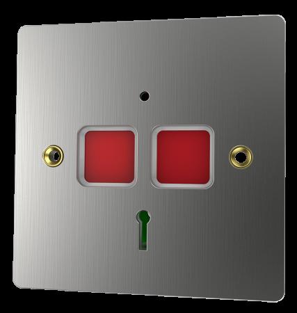 CQR Stainless Steel Flat Plate Panic Button EPA/STD/SS