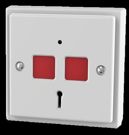 CQR White Flat Plate Panic Button EPA/STD