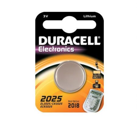 Duracell CR2025 Lithium Coin Cell Battery