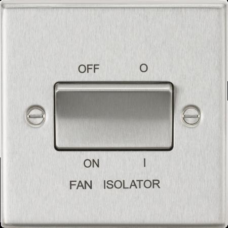 Knightsbridge 10AX 3 Pole Brushed Chrome Fan Isolator Switch | CS11BC