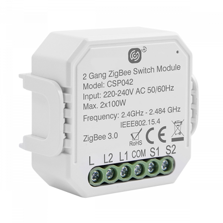 Click Smart Plus 2 Gang Smart Switching Receiver | CSP042
