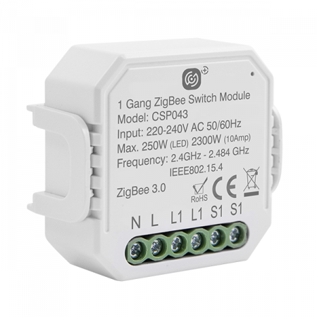 Click Smart Plus 10A 1 Gang Smart Switching Receiver | CSP043