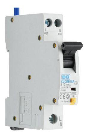 BG 10A Compact RCBO Type A, B Curve | CUCRB10A