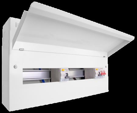 Click Elucian 22 Way Dual RCD Split Load Consumer Unit | CUEB22MSRCD16 | Alert Electrical