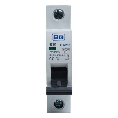 BG 10A B Type MCB (Miniature Circuit Breaker) | CUMB10