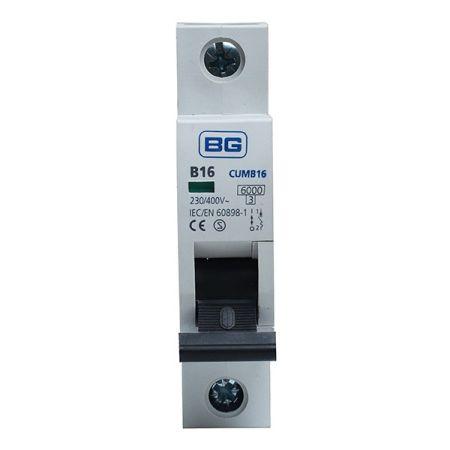 BG 16A B Type MCB (Miniature Circuit Breaker) | CUMB16