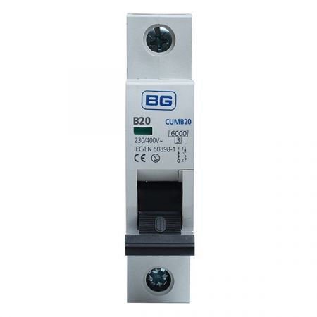 BG 20A B Type MCB (Miniature Circuit Breaker) | CUMB20