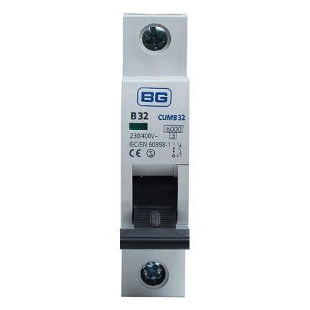 BG 32A B Type MCB (Miniature Circuit Breaker) | CUMB32