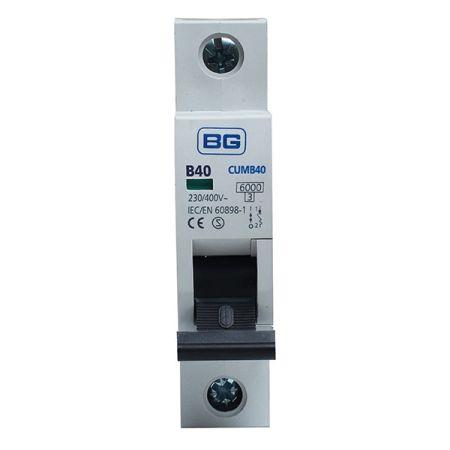 BG 40A B Type MCB (Miniature Circuit Breaker) | CUMB40