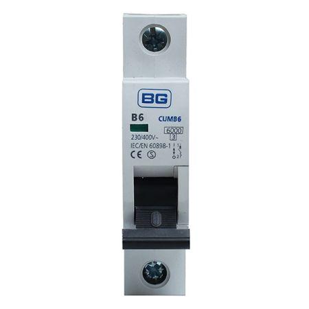BG 6A B Type MCB (Miniature Circuit Breaker) | CUMB6