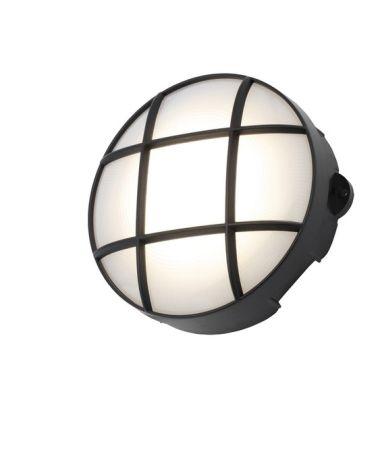 Coast Capella 8w LED Round Grill Bulkhead IP65 Black   CZ34024-BLK
