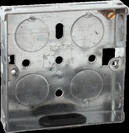 Deta 1 Gang 16mm Recessed Metal Back Box