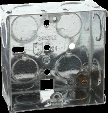Deta 1 Gang 35mm Recessed Metal Back Box