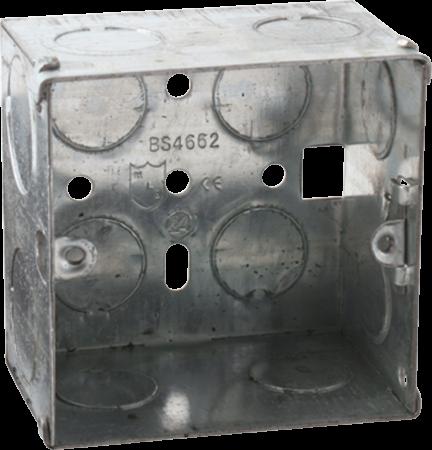 Deta 1 Gang 47mm Recessed Metal Back Box