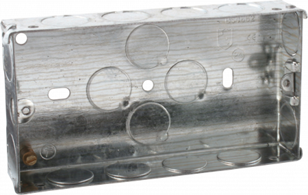 Deta 2 Gang 25mm Recessed Metal Back Box