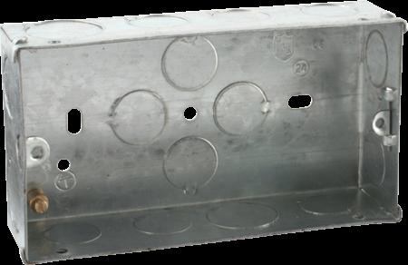 Deta 2 Gang 35mm Recessed Metal Back Box