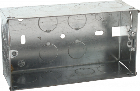 Deta 2 Gang 47mm Recessed Metal Back Box