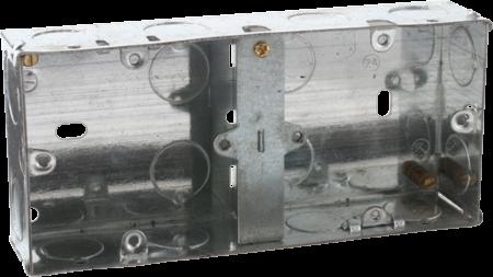 Deta 35mm Dual Recessed Metal Back Box