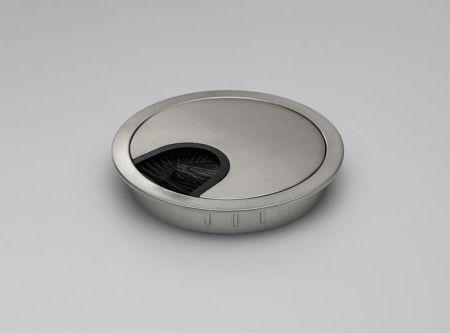 Tass 80mm Stainless Steel Desk Grommet   DGSS80