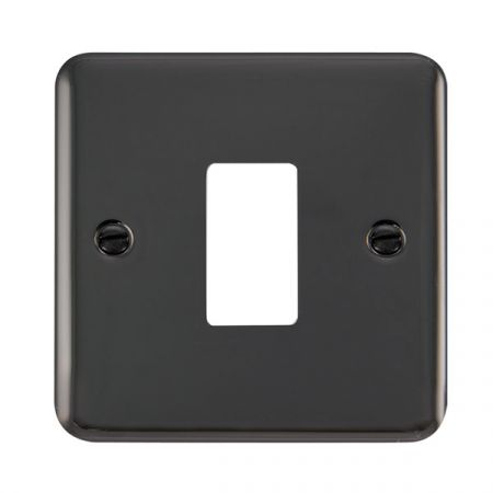 Click Deco Plus Black Nickel 1 Gang GridPro Front Plate | DPBN20401