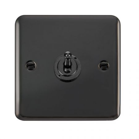 Click Deco Plus Black Nickel 1 Gang 10A Toggle Switch DPBN421