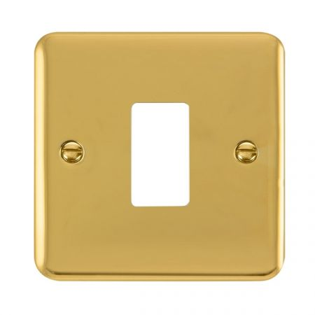 Click Deco Plus Polished Brass 1 Gang GridPro Front Plate | DPBR20401