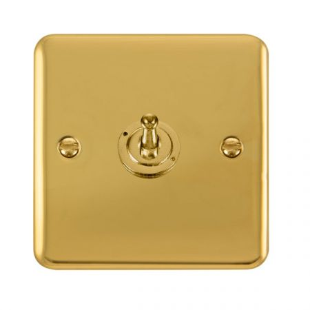 Click Deco Plus Polished Brass 1 Gang 10A Toggle Switch DPBR421