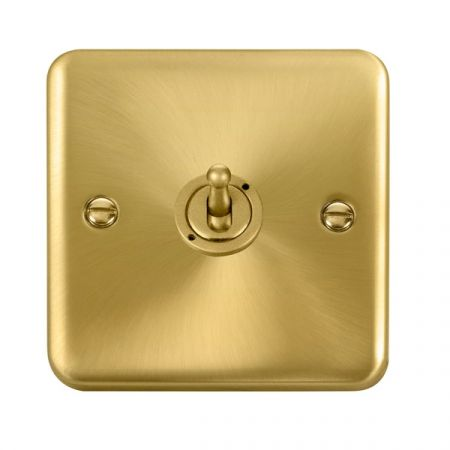 Click Deco Plus Satin Brass 1 Gang 10A Toggle Switch DPSB421