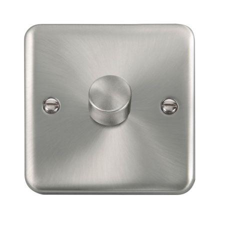 Click Deco Plus Satin Chrome 1 Gang 400w Dimmer Switch DPSC140
