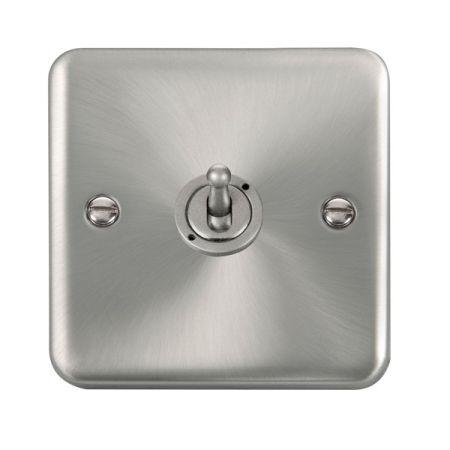 Click Deco Plus Satin Chrome 1 Gang 10A Toggle Switch DPSC421