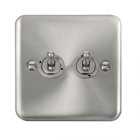 Click Deco Plus Satin Chrome 1 Gang 10A Toggle Switch DPSC422