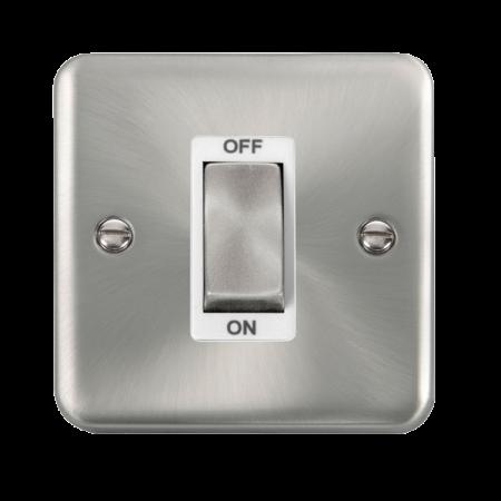 Click Deco Plus Satin Chrome 45A Ingot 1 Gang DP Switch White Insert | DPSC500WH