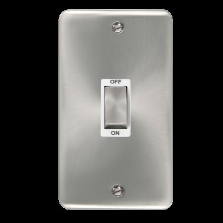 Click Deco Plus Satin Chrome 45A Ingot 2 Gang DP Switch White Insert | DPSC502WH