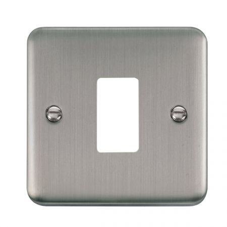 Click Deco Plus Stainless Steel 1 Gang GridPro Front Plate | DPSS20401