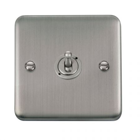 Click Deco Plus Stainless Steel 1 Gang 10A Toggle Switch DPSS421
