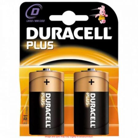 DURACELL Plus Power D type Battery Twin Pack