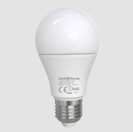 Link2Home 9W E27 Wi-Fi LED lamp with RGB | L2HE279W