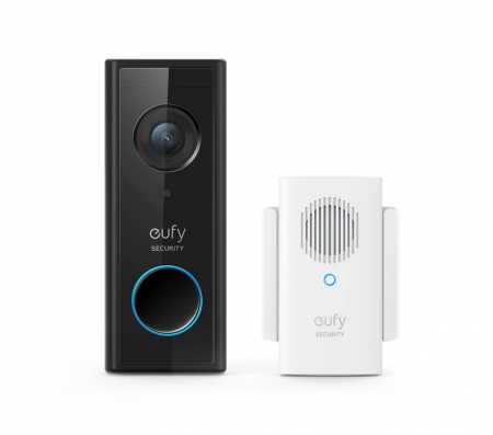 Eufy Battery-Powered Wi-Fi Video Doorbell 1080P & Wireless Chime | E8220311