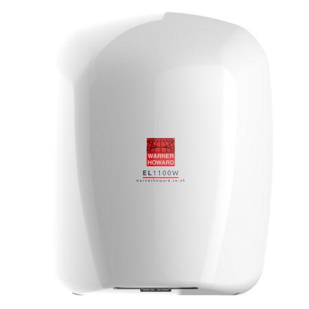 Warner Howard EL1100W High Speed Low Energy Hand Dryer White